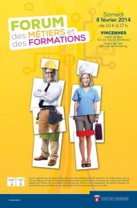 Forum des métiers et des formations 2014 à Vincennes