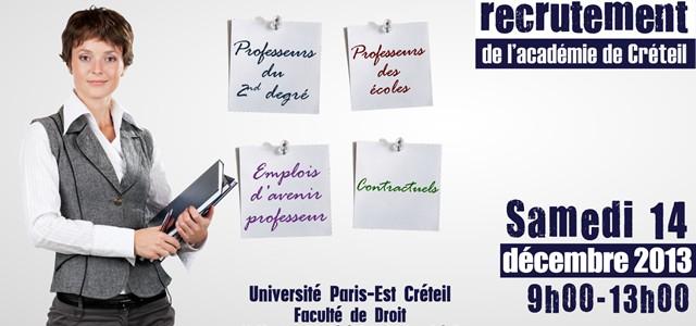 """La classe de 1ere ARCU accueille les visiteurs du """"Forum Recrutement Enseignants"""""""