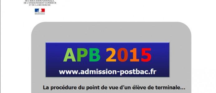 Procédure APB 2015 pour les élèves de terminale
