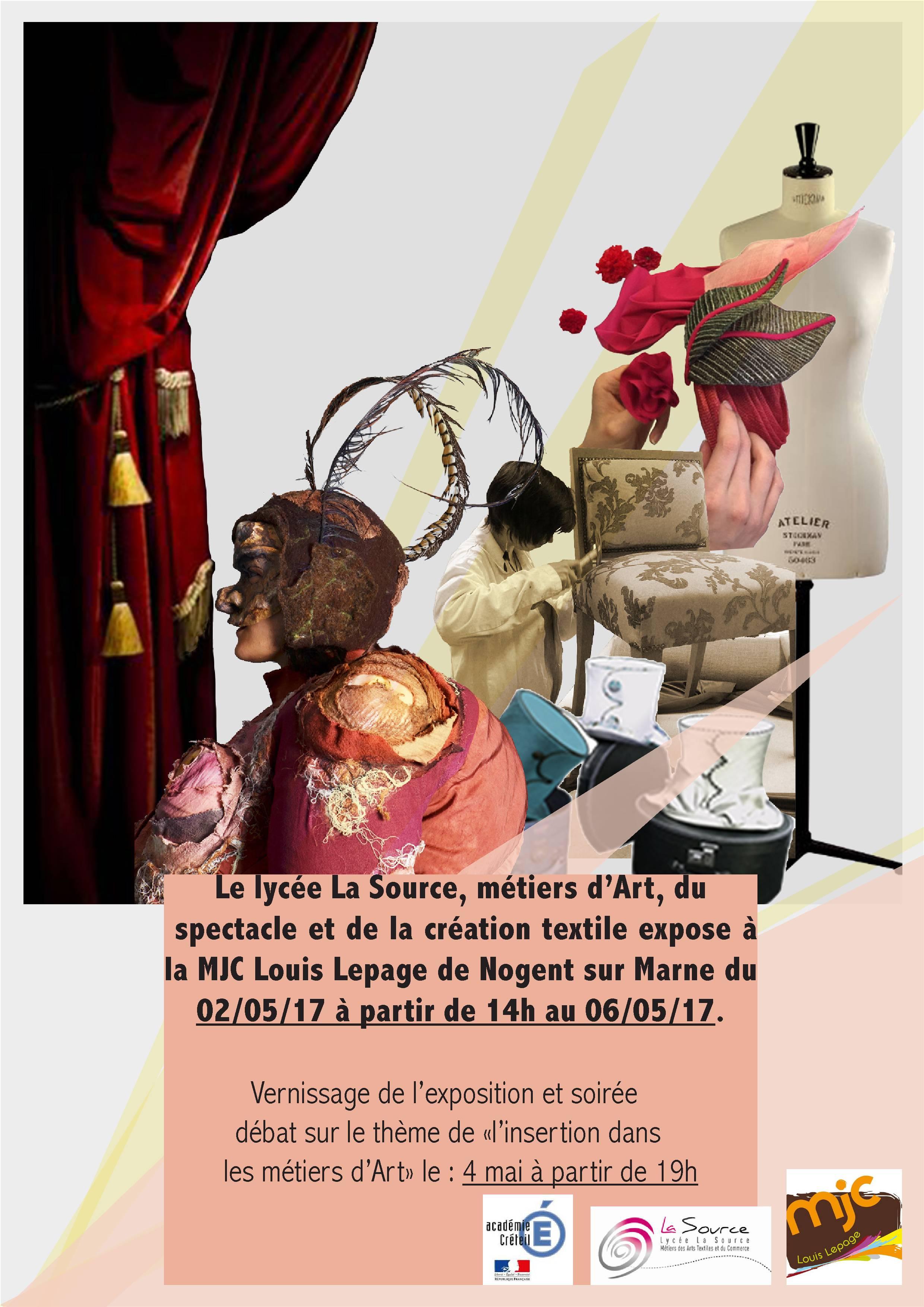Exposition sur les métiers d'art à la MJC de Nogent sur Marne - Lycée La source