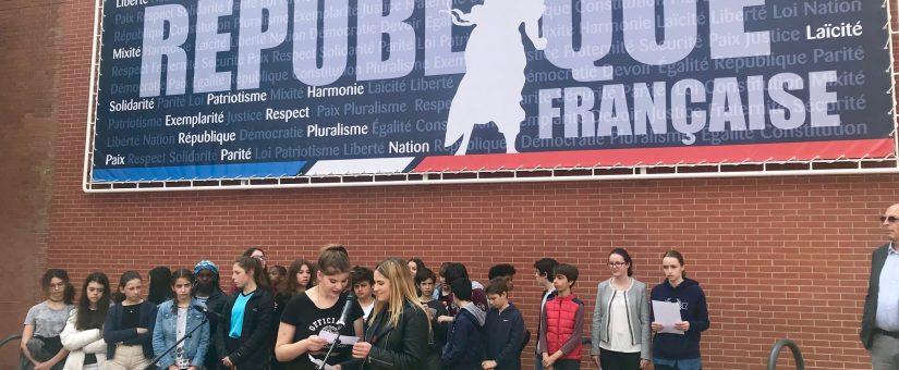 Inauguration de la nouvelle fresque autour des valeurs de la République